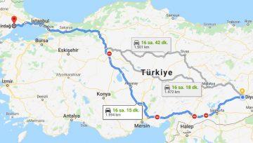 Diyarbakır Tekirdağ Arası Evden Eve Nakliyat